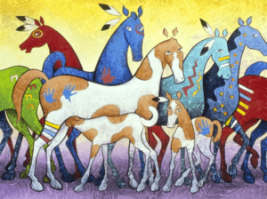 Oglala Horses